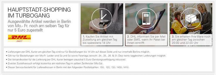 """""""Same Day Delivery""""-Projekt von eBay und DHL Paket in Berlin gestartet - http://www.onlinemarktplatz.de/54948/same-day-delivery-projekt-von-ebay-und-dhl-paket-in-berlin-gestartet/"""