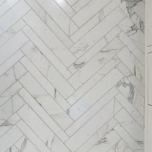 Herringbone Tile, Modern, bathroom, Annie Lowengart Design
