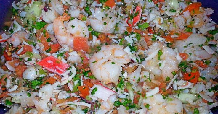 Great recipe for Ray's' ¤ Shrimp & Crab Ceviche ¤. your party will rave about this ceviche! ~(o.o)~