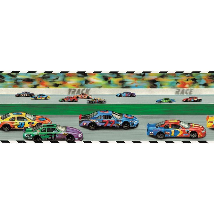 9 in. x 15 ft. Brightly Colored Race Track Border, Red/Orange