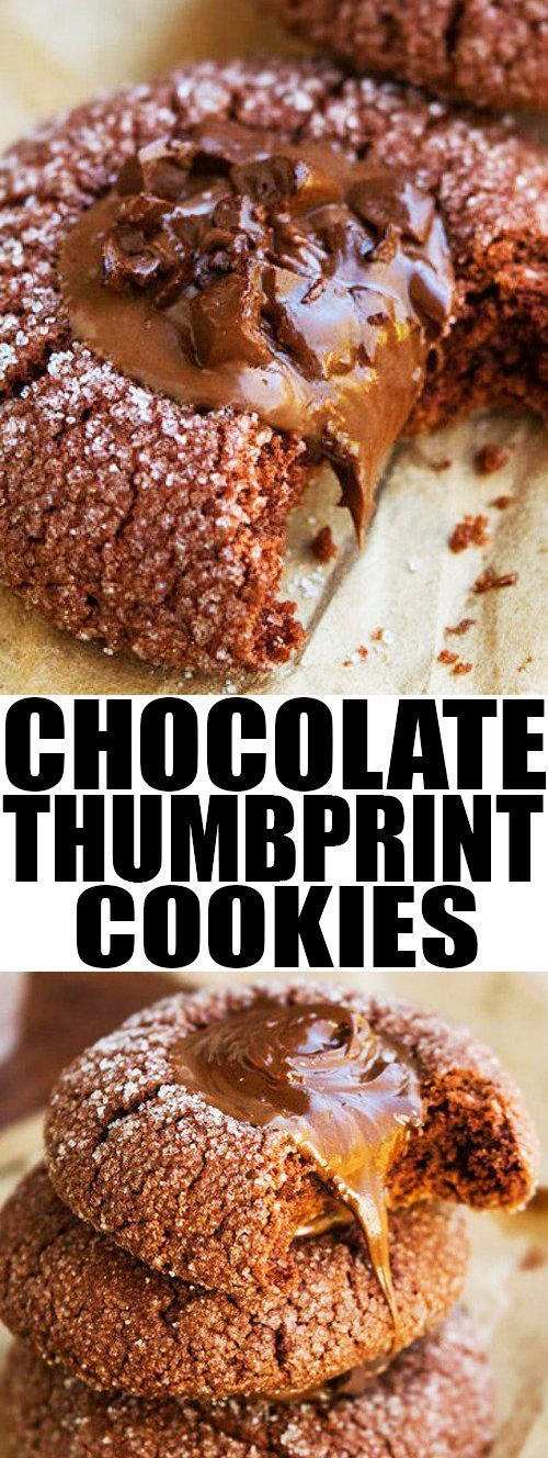 Quick and easy CHOCOLATE THUMBPRINT COOKIES recipe from scratch with ganache filling. They are crispy on the outside but soft and chewy on the inside. Perfect for Christmas cookie exchange. From cakewhiz.com #cookies #recipes #desserts #christmas