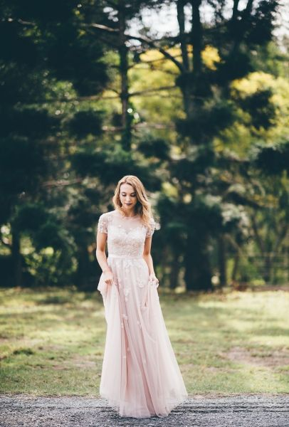 Ruby- Classic soft beaded gown