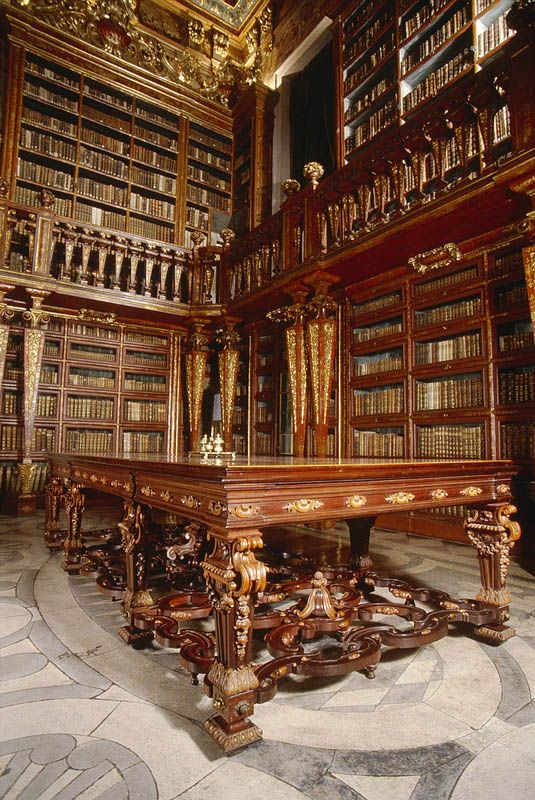 Baroque Library of the University of Coimbra, Portugal