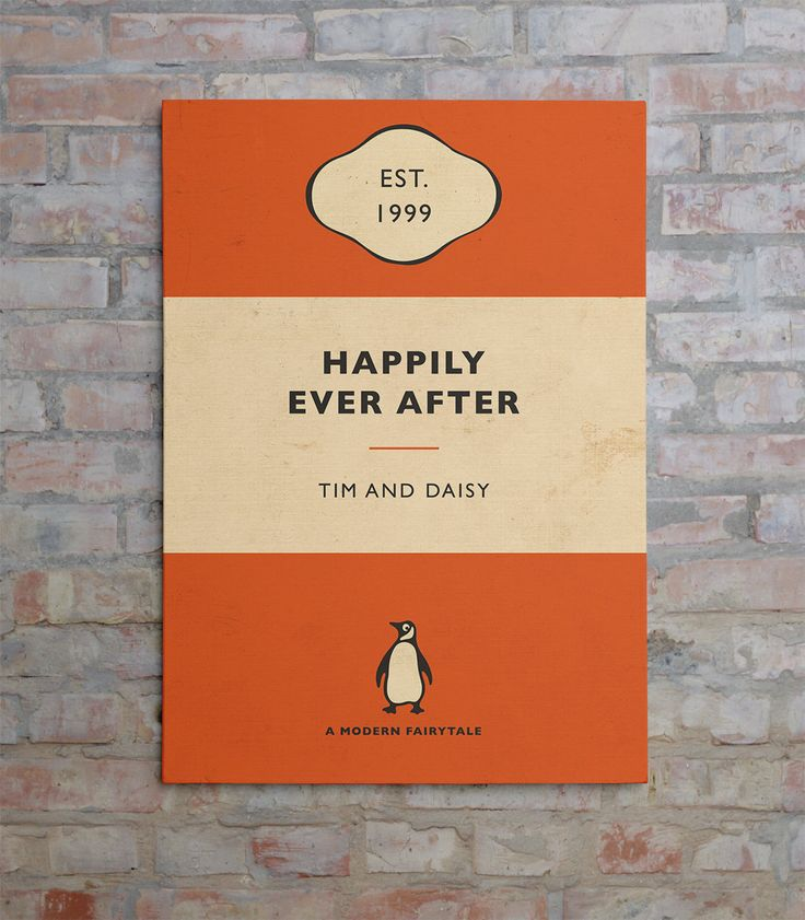 Penguin Book Cover canvas - I would actual books from my favorite book list