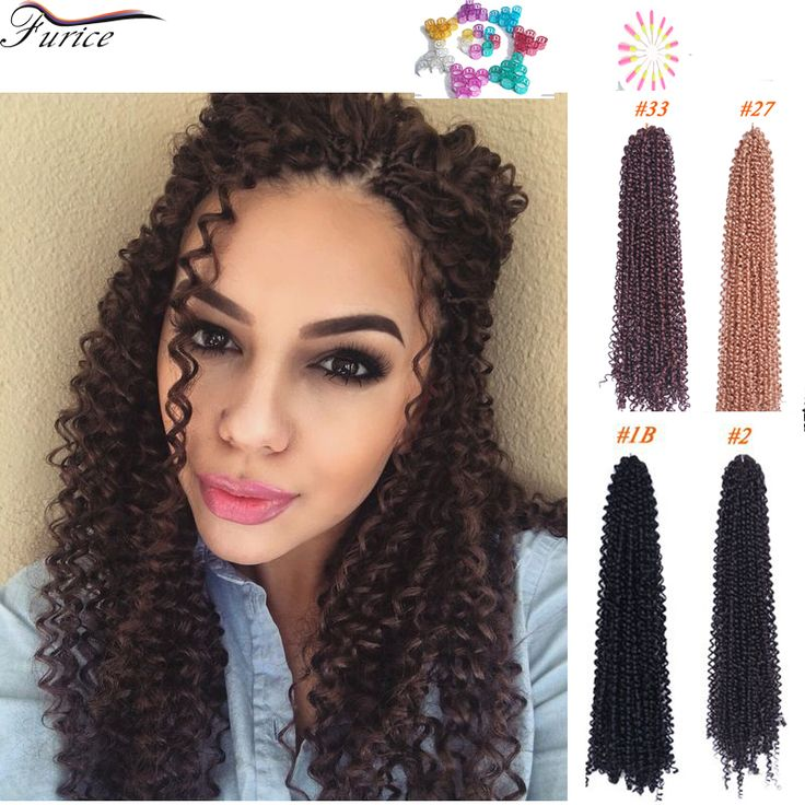 18 Inch Marley Braid Hair Freetress Deep Twist Freetress Braiding Hair Curly Crochet Hair Freetress Braid Crochet Water Wave Box
