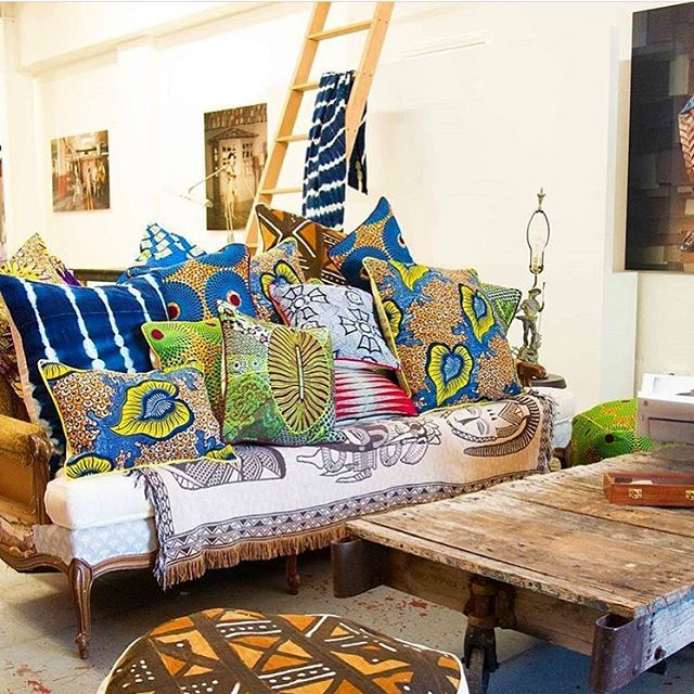 African textiles add flavour to any space. Checkout @your_amba