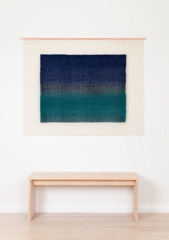 Wall hung textile by Mimi Jung