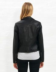 Pu Moto Quilted Jacket