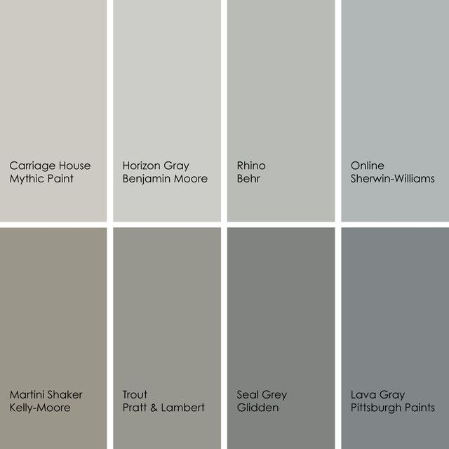 Wall color samples