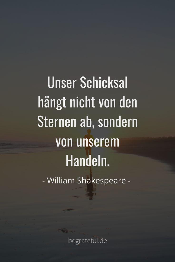 William Shakespeare Zitate deutsch: Unser Schicksal hängt