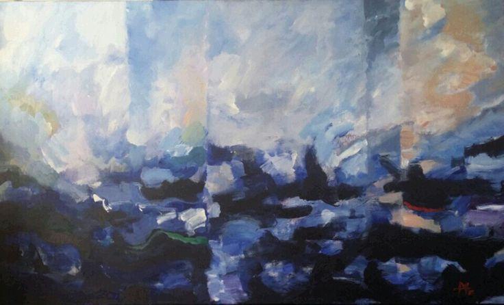 BLUE, 60/100cm, a/c, 2015, DS