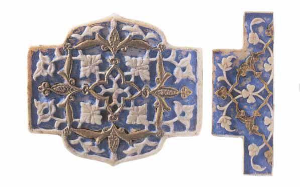 Ivory belt pieces, circa 1500, height 4cm, Topkapi Museum