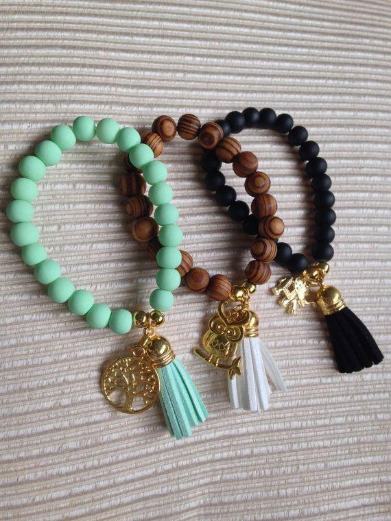 Prosperity and good luck trendy bracelet, Beaded bracelet, charm bracelet, stackable bracelet, fashion bracelet, on Etsy, 60.95₪