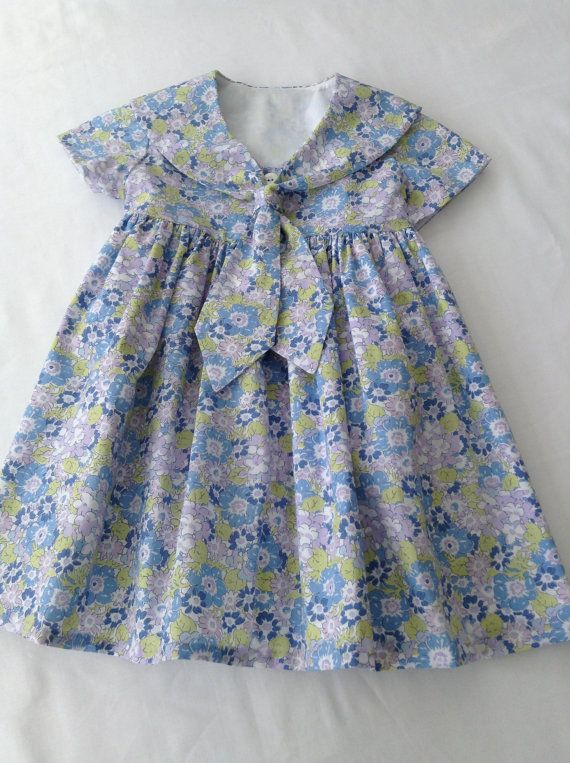Classic Liberty Tana Lawn Sailor Dress for a by LittleMissDressCo