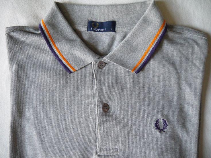 RARE Vintage FRED PERRY peacock blue polo in L size -sportswear men mods ska punk brit pop menswear harrington baracuta beautiful gorgeous ! - pinned by pin4etsy.com