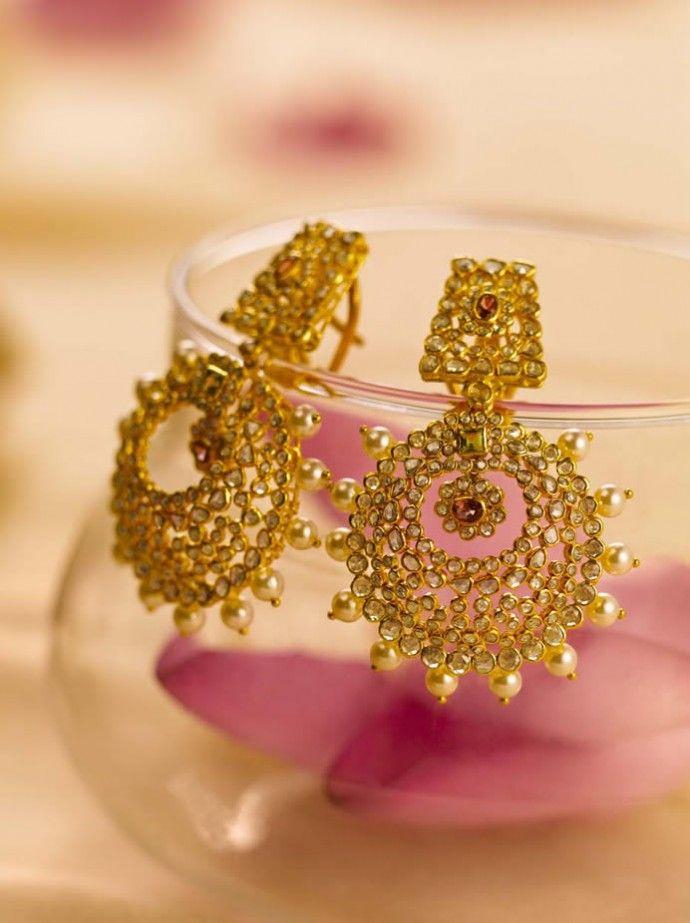 tanishq - uncut diamond earring