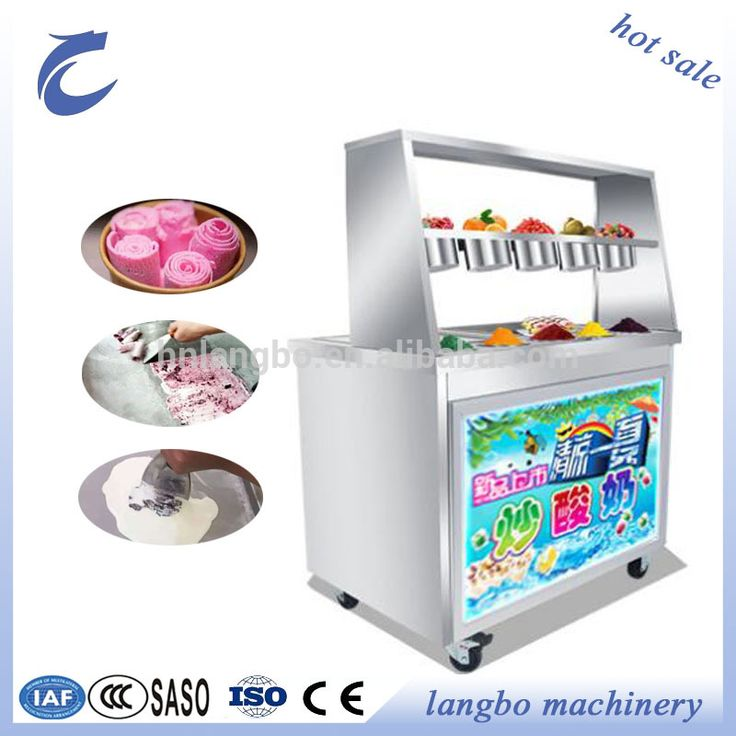 Golden Supplier Commercial Fried Ice Cream Rolling Machine/ Thailand Rolled Fried Ice Cream Machine for Sale