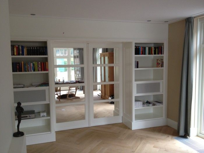 I love the storage ideas and separation of the two rooms