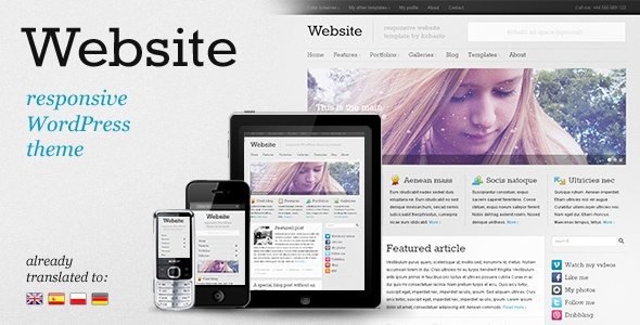 WordPress - Website - responsive WordPress theme | ThemeForest - only $45
