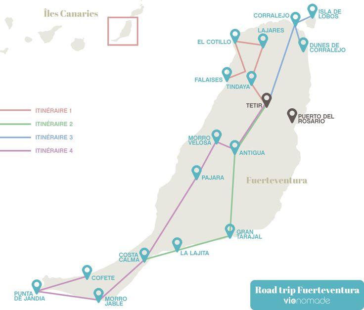 Itinéraire pour un road trip en étoile à Fuerteventura, Canaries