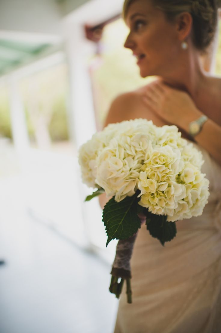 white hydrangea bouquet // photo by Matt Steeves Photography, coordination by Fabulously Chic Events