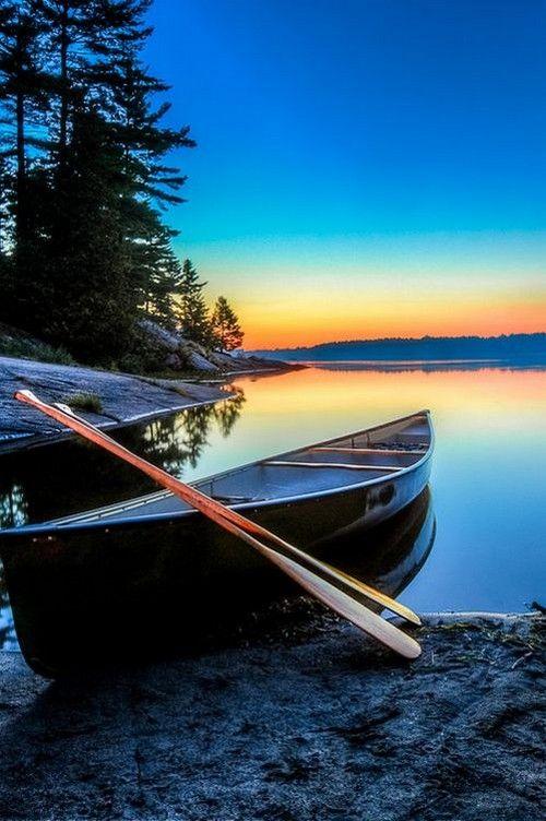 Twilight on Grundy lake