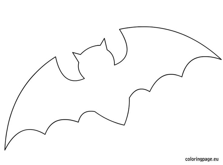 17 best ideas about bat template on pinterest halloween for Free printable bat coloring pages