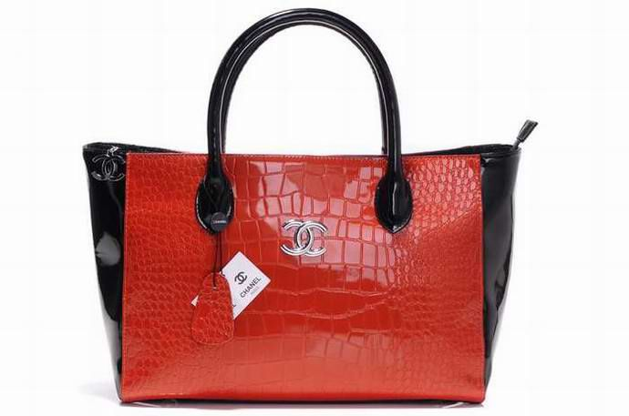 Replica Chanel Tote Bags Outlet Black Red Patent Leather