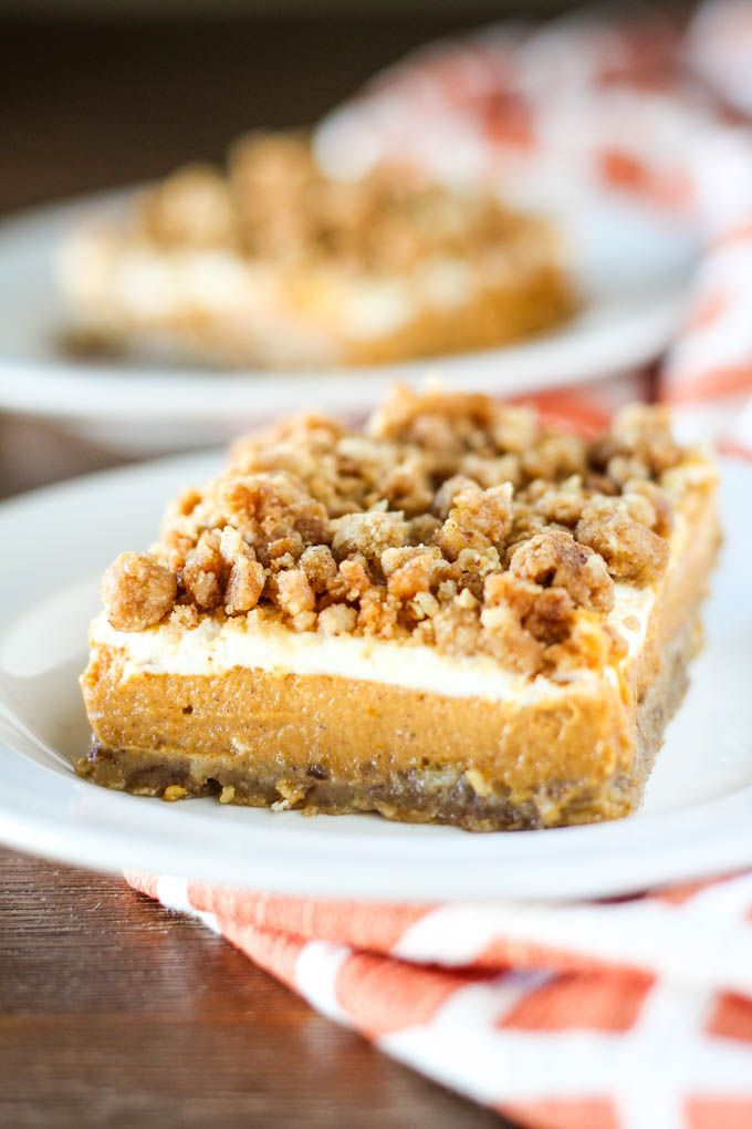 Pumpkin cheesecake crumble bars. The name says it all! These bars are full of the best flavors and topped with a crumbly oat topping! The sweet sour cream layer adds a tang that goes well with the pumpkin cheesecake. You will love these! These bars are made in a blender (the crust and filling) so...Read More »