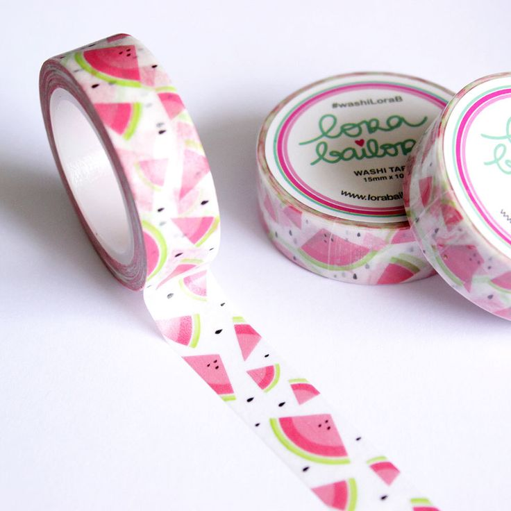PRE-ORDER Washi tape watermelon 15mm x 10m by lorabailora on Etsy https://www.etsy.com/listing/237075990/pre-order-washi-tape-watermelon-15mm-x