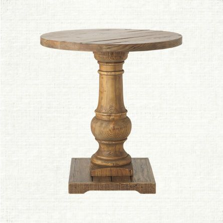 View the Hudson End Table from Arhaus. Constructed of 100% reclaimed pine, the Hudson occasional group showcases beautiful balustrade legs with time