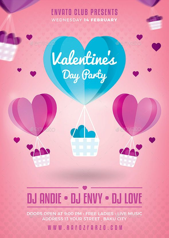 654 Best Valentines Flyer Templates Images On Pinterest