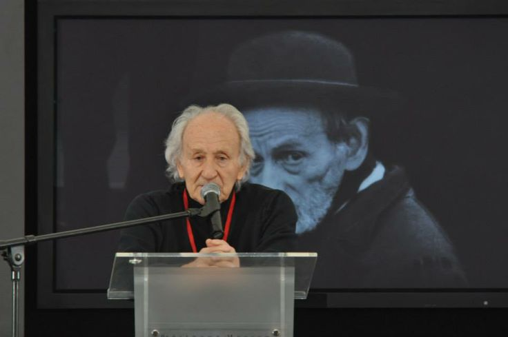 Auschwitz survivor Noah Klieger was one of the speakers during the ceremony.