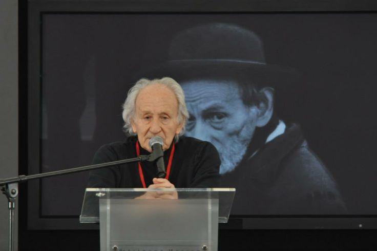 Auschwitz survivor Noah Klieger was one of the speakers during the ceremony.