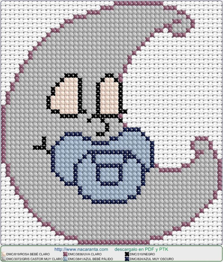Luna el EN PUNTO DE CRUZ, cross stitch pattern