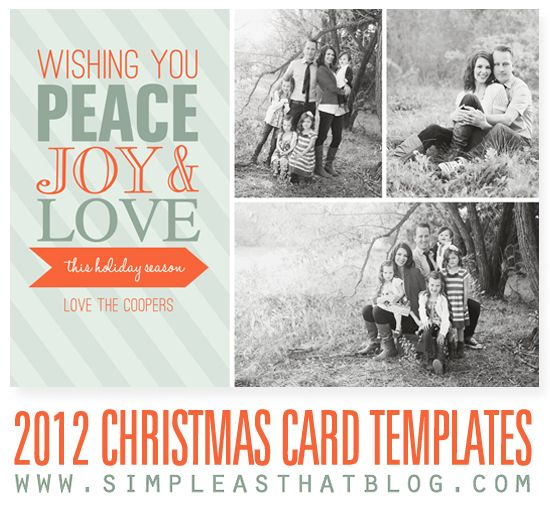 beautiful 2012 Christmas Card Templates from @Rebecca {simple as that}
