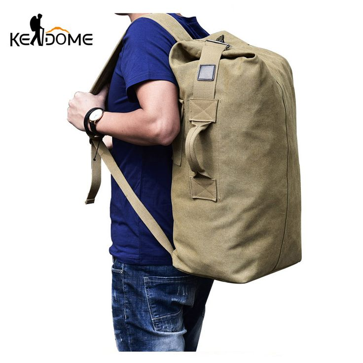 compare prices 2017 multi purpose military canvas backpack solid color men weekend sports travel #military #backpacks