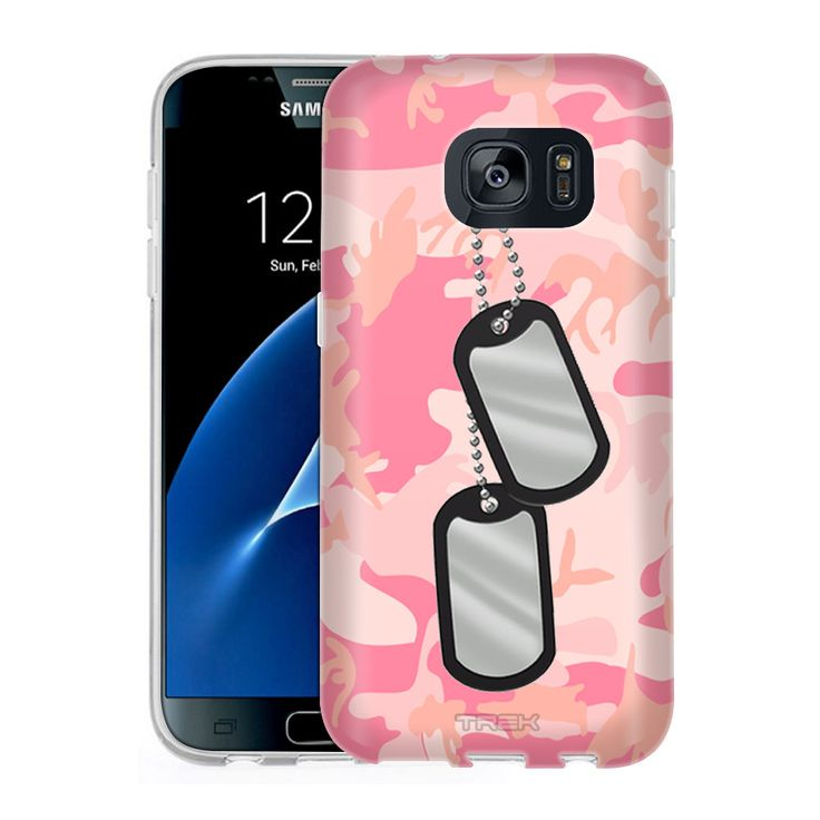Samsung Galaxy S7 Nameplate on Pink Camouflage Slim Case