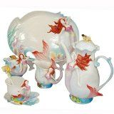 Ceramic Mermaid Coffee Mug Set Tea Set 16-Piece $285.00 www.mermaidhomedecor.com - Mermaid Kitchen & Dining
