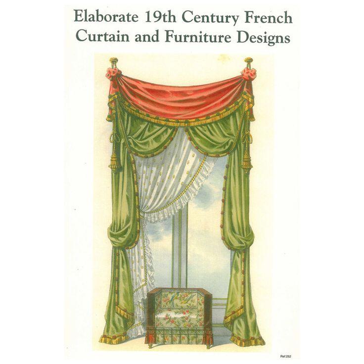 Elaborate 19th Century French Curtain & Furniture Designs