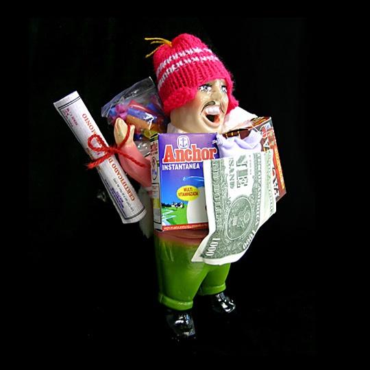 Bolivian pink Ekeko doll