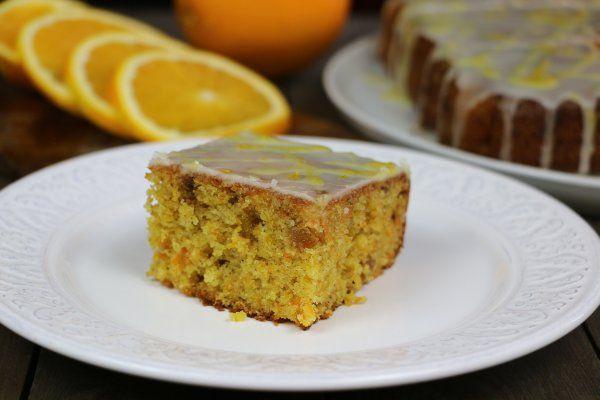 Морковный пирог с апельсиновой глазурью