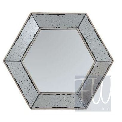 Lustro sześciokątne HEXAGONAL 52x45 cm Cote Table