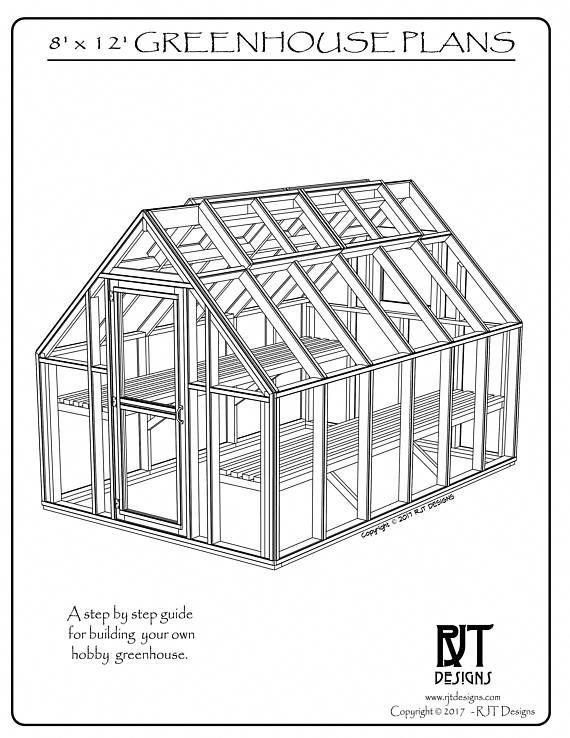 Plans To Build An 8 X 12 Hobby Greenhouse This Is A Spiral Bound