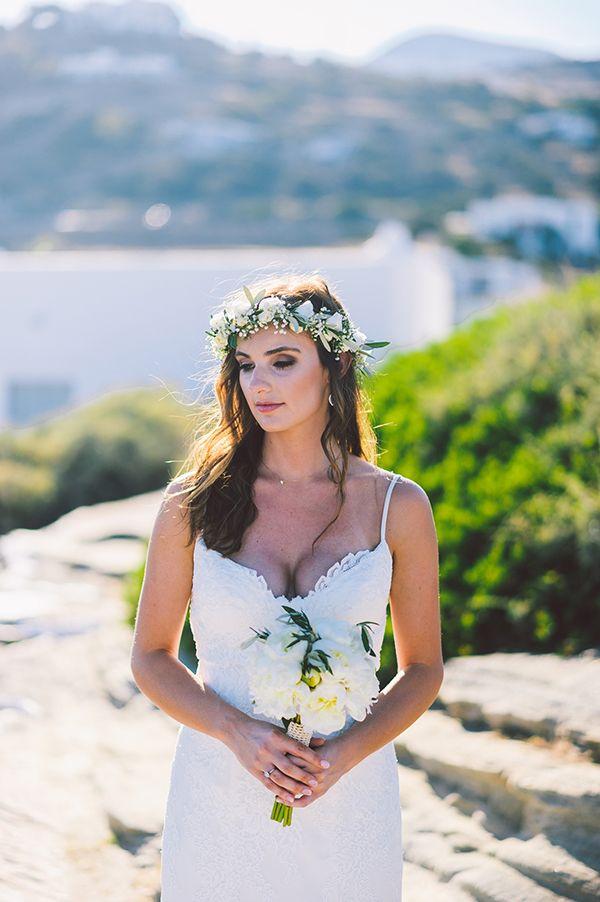 Romantic destination wedding in Sifnos
