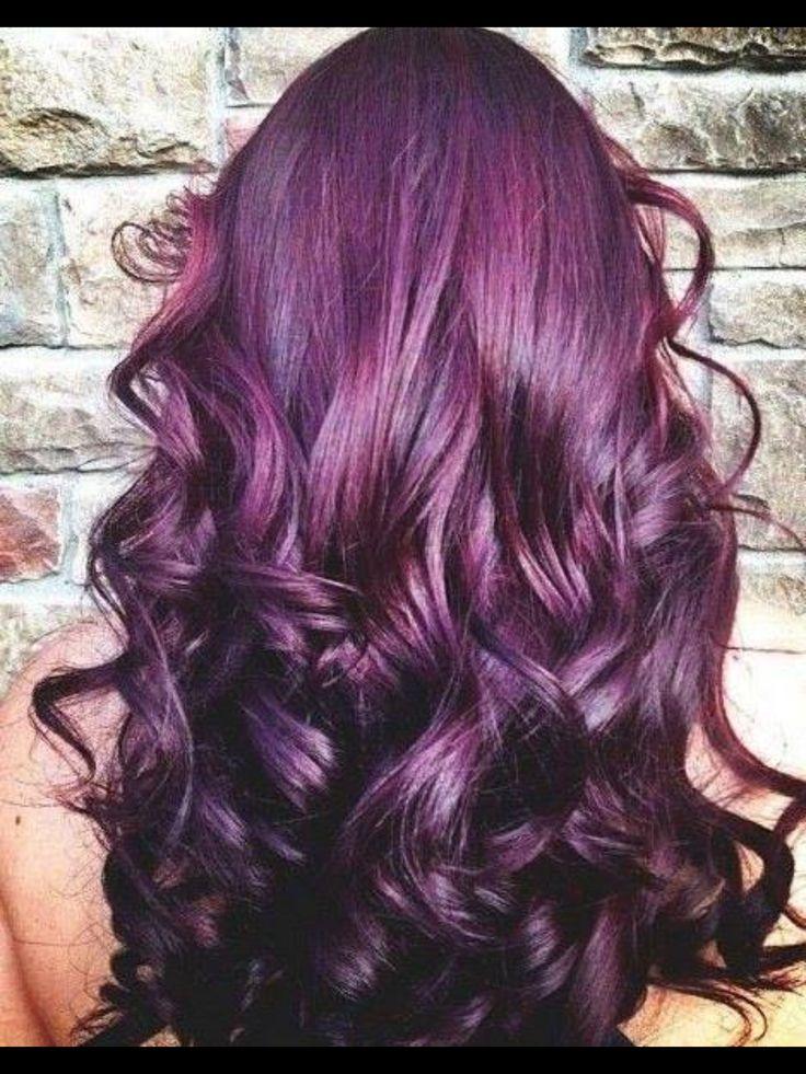 Beautiful purple curly hair <3