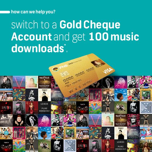 Open a Gold Cheque Account and SMS 'downloads' to 31138 to opt in. #FNBGoldenCircle. Terms and conditions apply. Visit www.fnb.co.za for more info