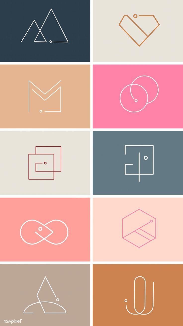Colorful minimal design logo collection vectors | …