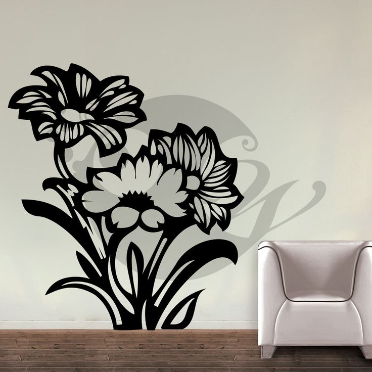 With this Mystique Flowers Wall Sticker Decal you can decorate your walls in one of the most modern and elegant ways