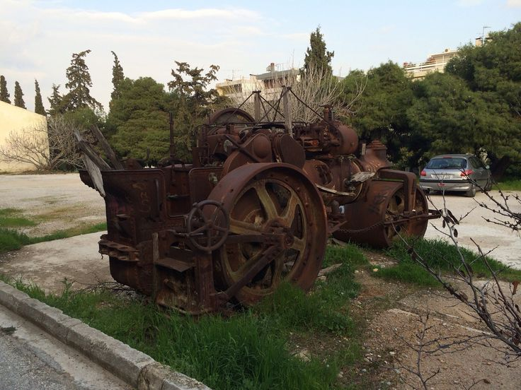 Abandoned Marshall steam roller. | Flickr - Photo Sharing! Psikhikón, Athens, Attiki